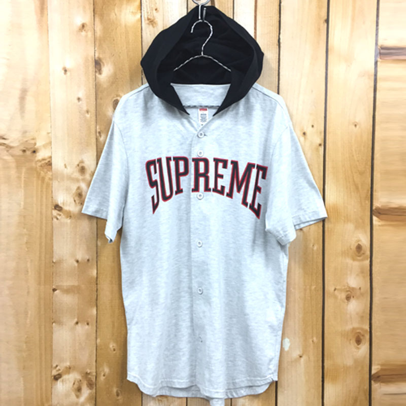 【中古】【メンズ古着】Supreme シュプリーム Hooded Baseball Top フード付きベースボールトップ/ストリート【山城店】