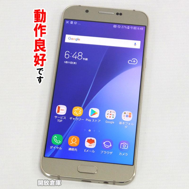【中古】au SAMSUNG Galaxy A8 SCV32 ゴールド【白ロム】【354912070314339】【利用制限: ○】【Android 7.0】【スマホ】【山城店】