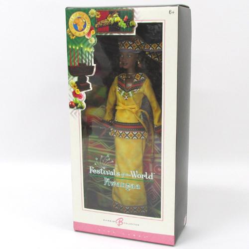 【中古】Mattel Barbie Festivals of the World Kwanzaa バービー ドール・オブ・ザ・ワールド クワンザ J0945 (ピンクラベル)【おもちゃ】【山城店】