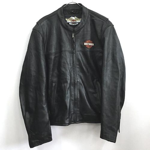 【中古】HARLEY DAVIDSON ハーレーダビッドソン Leather Jacket レザー ジャケット/アメカジ【メンズ古着】【山城店】