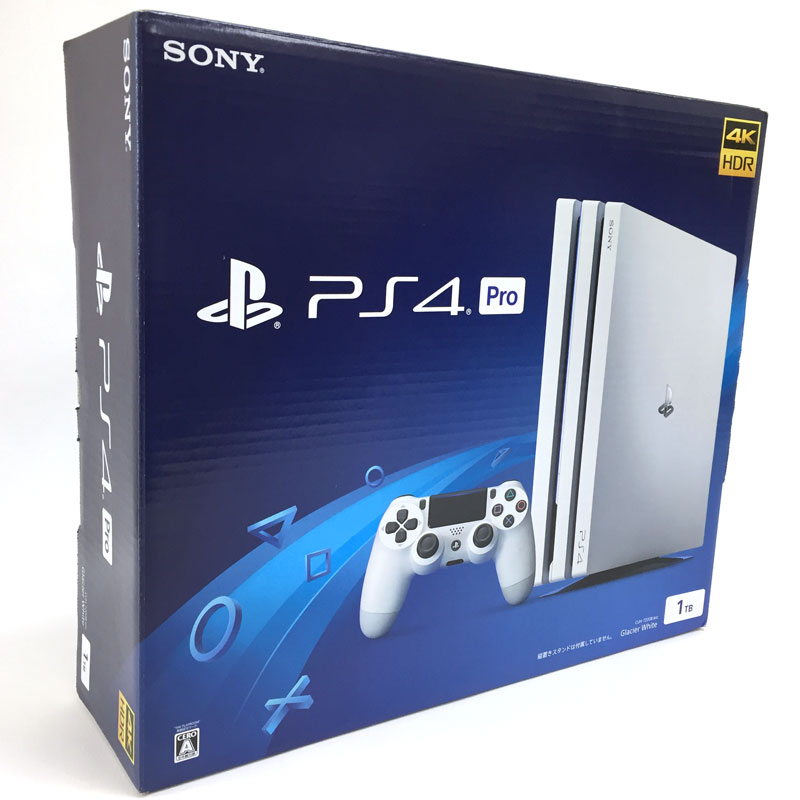【中古】SONY PlayStation4 Pro CUH-7200 1TB グレイシャー・ホワイト【PS4 本体】【ゲーム】【山城店】