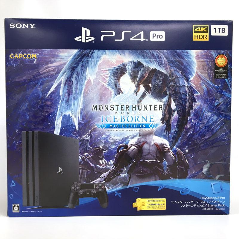 """【中古】SONY PlayStation 4 Pro CUHJ-10032 1TB Jet Black """"モンスターハンターワールド: アイスボーンマスターエディション"""