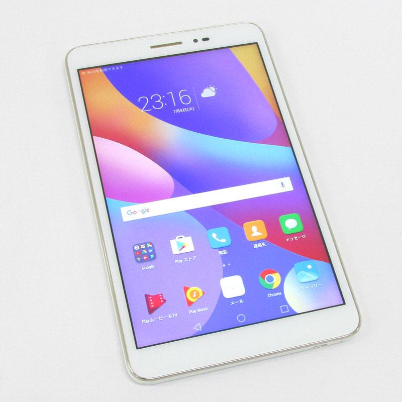 【中古】 SIMフリー Huawei HUAWEI MediaPad T2 8 Pro JDN-L01 ホワイト 【白ロム】【862336030485747】【Android 6.0.1】【スマートフォン】【山城店】
