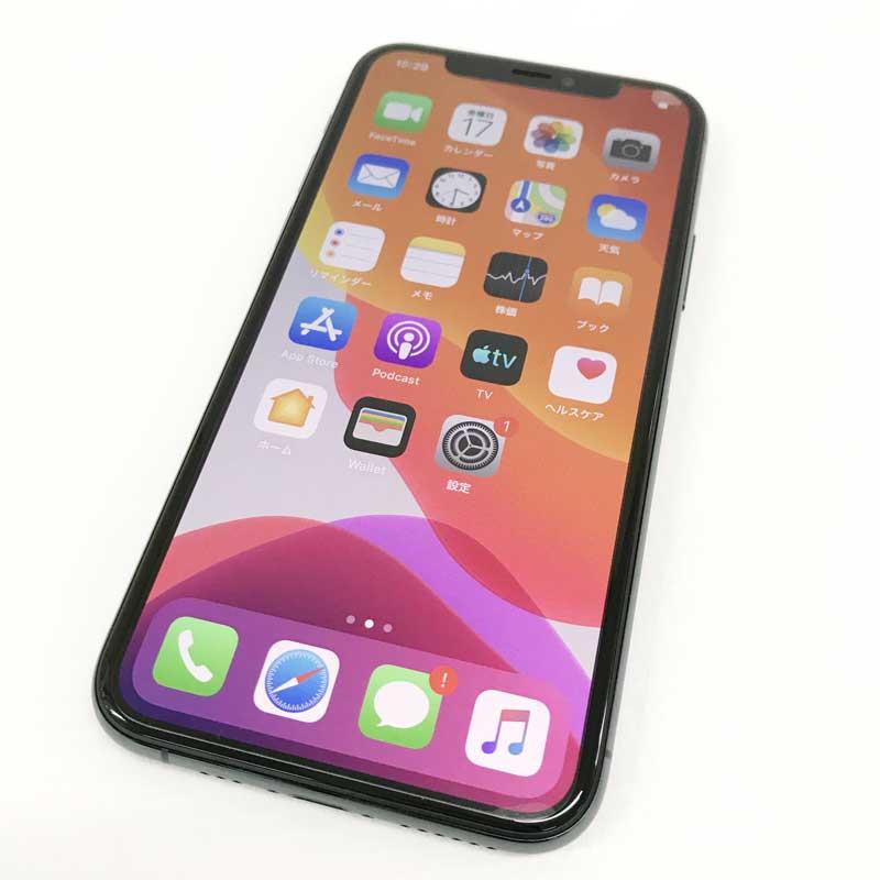 【中古】 au Apple iPhone11 Pro 256GB MWCC2J/A ミッドナイトグリーン【白ロム】【353843100974019】【利用制限: ▲】【iOS 13.0】【スマホ】【山城店】