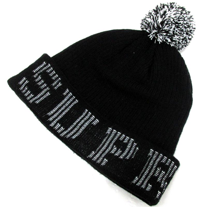 212abf74c9c  中古  メンズ古着 Supreme シュプリーム Grid Logo Beanie サイズ:Free カラー:ブラック  系 2017AW 帽子 キャップ 山城店  ニット帽-ニット帽
