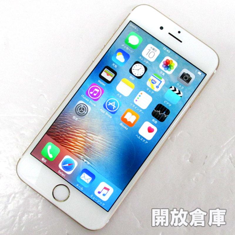au Apple iPhone6 16GB NG492J/A ゴールド【中古】【白ロム】【 355402074986166】【利用制限: ○】【iOS 9.3.4】【スマホ】【山城店】
