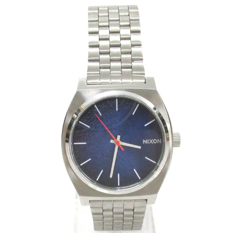 【中古】NIXON ニクソン TIME TELLER タイムテーラー 腕時計/A0452660/シルバー×ブルー/クォーツ《腕時計/ウォッチ》【服飾小物】【山城店】