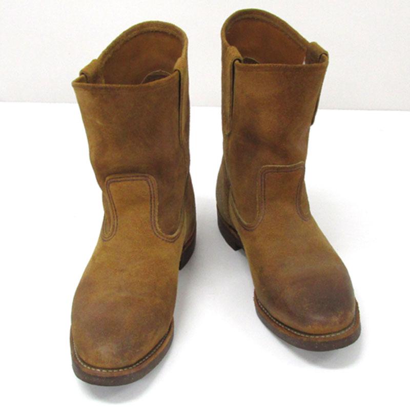 【中古】【メンズ古着】RED WING レッドウィング 8188 PECOS HAWTHORE ペコスホーソン サイズ:9/カラー:茶/ペコスブーツ/スウェードブーツ/靴 シューズ/他靴【山城店】