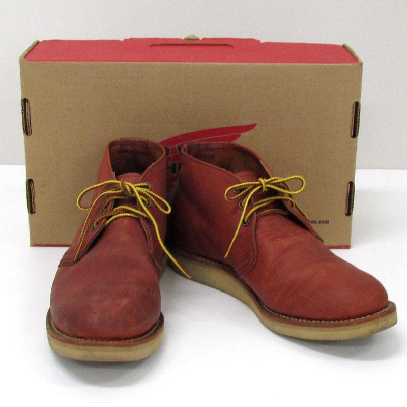 【中古】【メンズ古着】RED WING レッドウィング 8595 WORK CHUKKA 8595 ワークチャッカ ブーツ/サイズ:26.5cm/カラー:ブラウン 系/靴 シューズ/他靴【山城店】