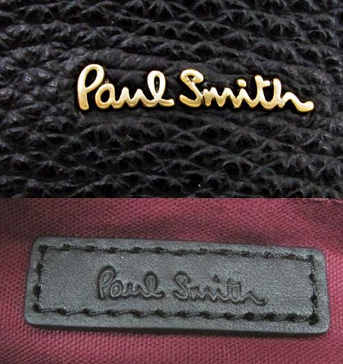 レディース古着 Paul Smith ポールスミス レザーショルダーバッグ カラー ブラック 牛革 バッグ 鞄 山城店TlFu3K1Jc