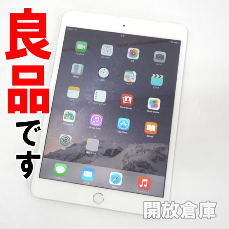 【中古】良品です au版 iPad mini3 WiFi+Cellular 64GB シルバー MGJ12J/A 【利用制限:○】【iOS 8.3】【タブレットPC】【山城店】