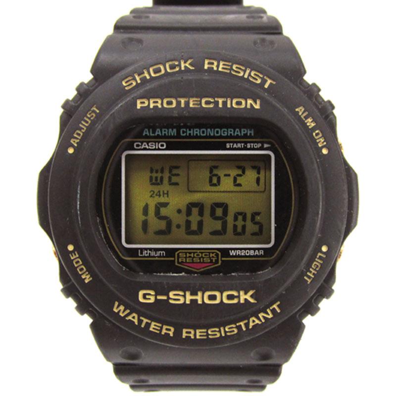 【中古】CASIO カシオ G-SHOCK ジーショック 35周年記念限定モデル 腕時計/品番:DW-57350-1BJR/カラー:ブラック×ゴールド/クォーツ《腕時計/ウォッチ》【服飾小物】【山城店】
