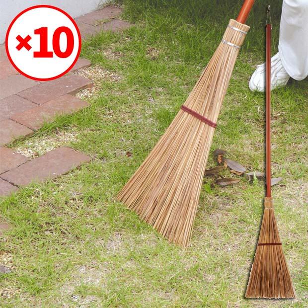【送料無料】【16%OFF】【10本セット】名匠160庭園ほうき長柄