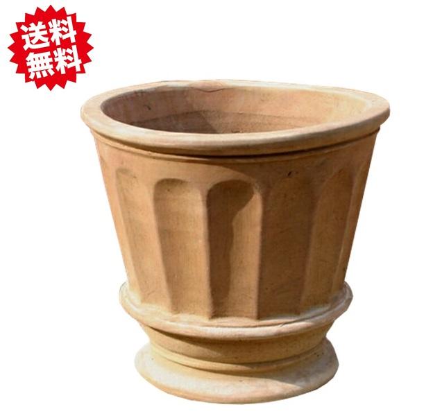 ベトナム鉢 フィリー (ショコラ) L47 テラコッタ 2個セット シンプルデザイン 素焼き 陶器鉢 北海道・沖縄・離島出荷不可