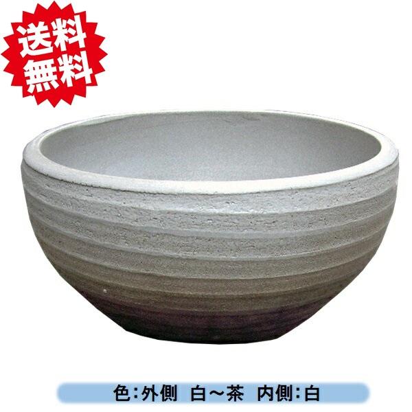 睡蓮鉢 MKS-M WH 白14号 メダカ鉢 陶器製 スイレン鉢 北海道・沖縄・離島出荷不可
