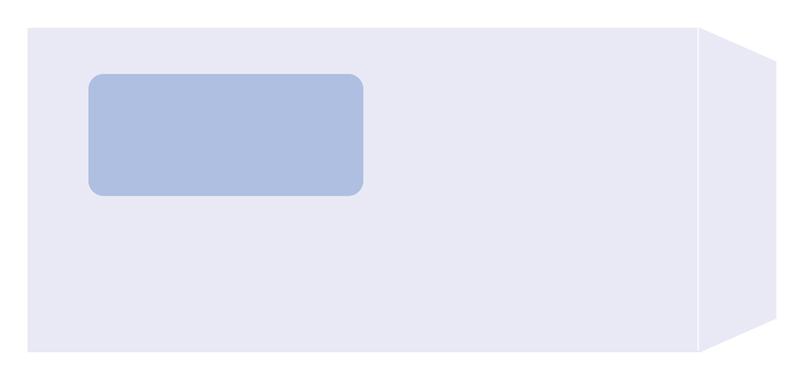 【日本全国送料無料】PCA純正伝票/窓付封筒(A4 3面単票用) PA1371F
