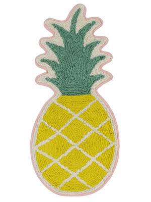 春夏らしいお色で明るくなります ○o 10%OFF ハワイアン 返品送料無料 パイナップル型マット バスマット 玄関マット ハワイアン雑貨 o○ パイナップル パイナップル雑貨 ハワイアンインテリア