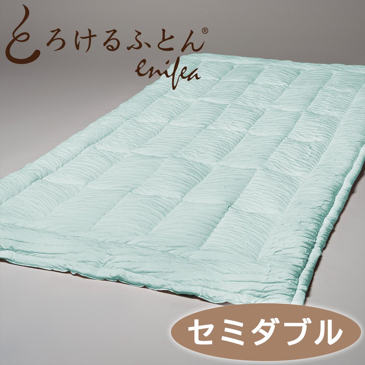 とろけるふとん 2 とろける布団 敷きパッド 保証 想像を超える やわらかさの絶頂へ この上なく幸せな眠り心地を味わったらもう手放せなくなるはず enifea II セミダブル 洗える 柔らか 保湿 放湿 快眠博士 緑 ディーブレス ミントグリーン 70%OFFアウトレット 吸収