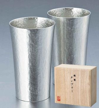 【大阪錫器製】 錫製 タンブラー スタンダード ペア(大 容量約300ml×2客)【ギフト】