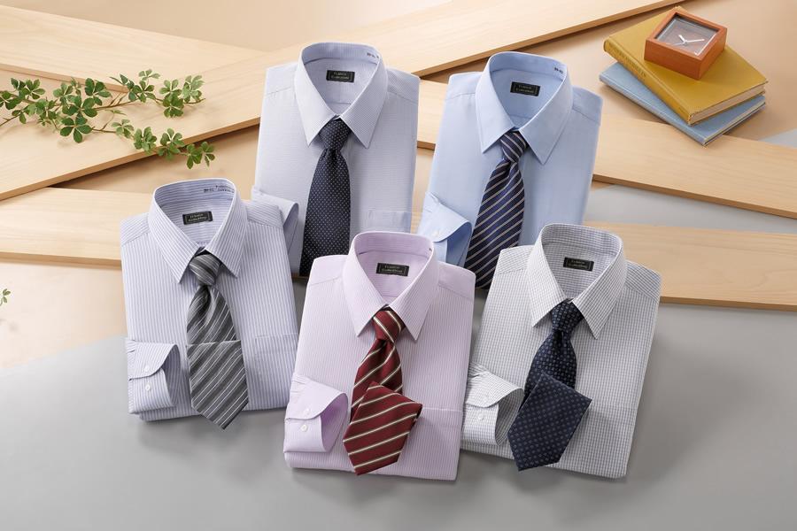銀座・丸の内のOL100人が選んだワイシャツ&ネクタイセット(カラー系)50409+10659 ワイシャツ ネクタイ セット 形態安定(rs1)