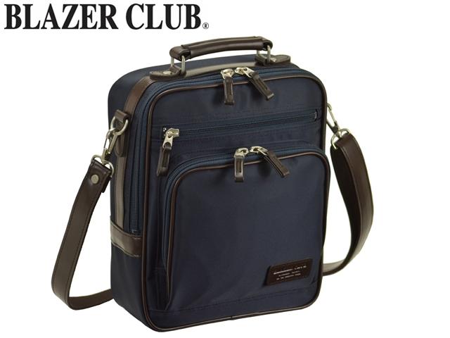 【日本製】 BLAZER CLUB ラウンドポケット付 ナイロンショルダー (縦型) No.33722 メンズ ビジネスバッグ ショルダーバッグ (rs1)