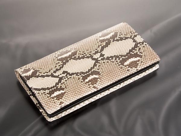 【日本製】ダイヤモンドパイソン長財布蛇革財布 蛇皮財布 ニシキヘビ 錦蛇財布長財布(rs1)