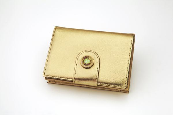 黄金メビウス二つ折り財布ゴールドカード進呈(本物の金箔) 開運財布金運財布 黄金財布(rs1)