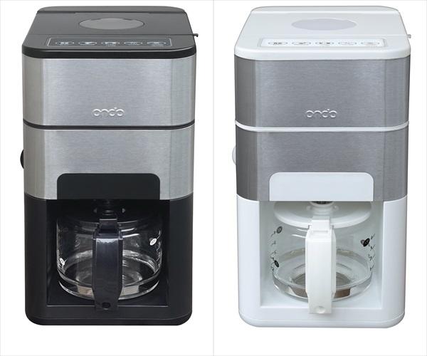 石臼式コーヒーメーカー ON-01全自動 ミル付き ステンレス内部自動洗浄機能付メッシュフィルター採用 メーカー保証:1年間