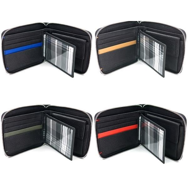 ENZODESIGNソフトレザー二つ折りラウンドファスナーウォレットファクトリーブランド財布 メンズ用財布本革 レザー エンゾーデザイン(rs1)