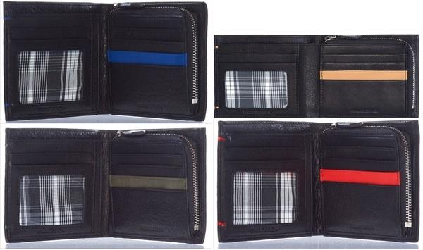ENZODESIGNソフトレザー二つ折りスリムウォレットファクトリーブランド 財布 メンズ用財布本革 レザー エンゾーデザイン(rs1)