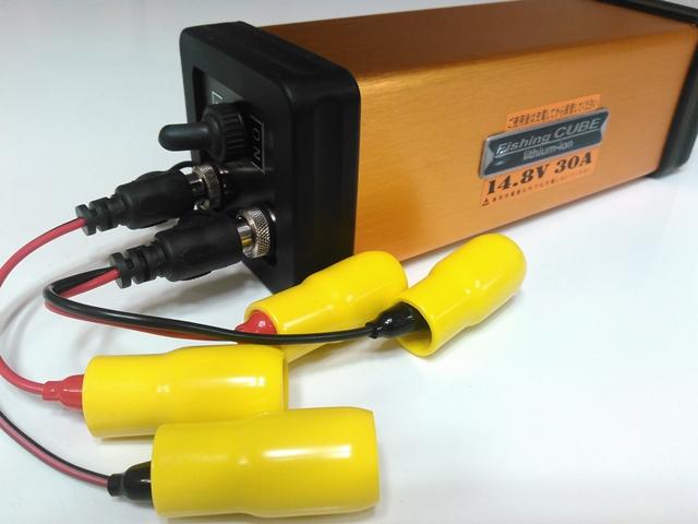電動リール用 バッテリー 超深海対応 二系統出力端子搭載 小型軽量バッテリー 【フィッシング キューブ 14.8V 30Ah】八洲電業 ヤシマFishing CUBE WG 14.8V 釣用バッテリー 電動リール用 充電池リチウムイオンバッテリー