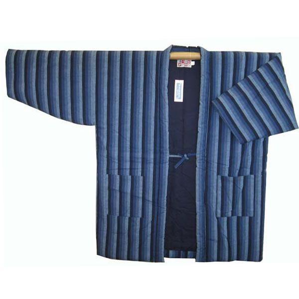 【特注サイズ】最高級手造り綿入半天 カツオ縞 特大3L-No2  05P03Dec16