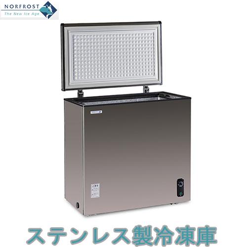 ノーフロスト ノンフロン冷凍庫 JH146CR【ステンレス冷凍庫 チェストフリーザー】
