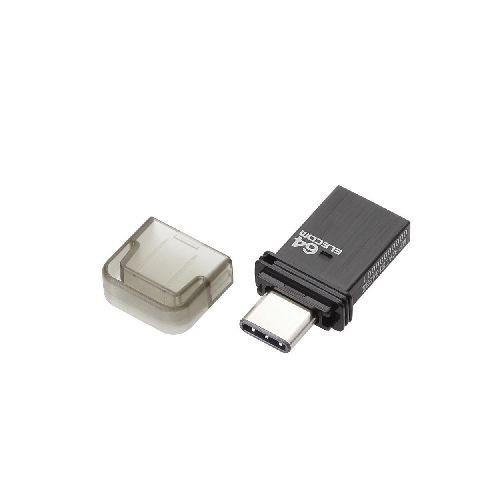 [ELECOM(エレコム)] USB Type-Cメモリ(ブラック) MF-CAU3164GBK