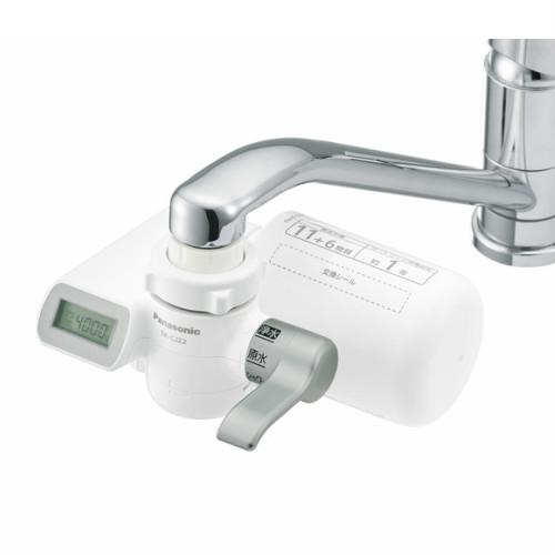 パナソニック 蛇口直結型浄水器 TK-CJ22-S 蛇口に直接つける直結型タイプの浄水器。【panasonic 浄水器 液晶表示 蛇口 簡単 カートリッジ シンプル 比較 通販】
