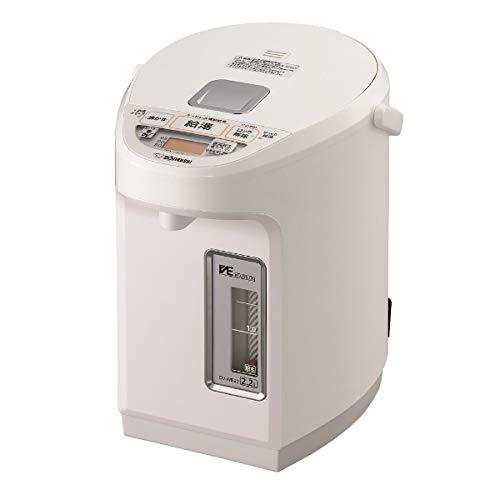 象印 マイコン沸とうVE電気まほうびん 2.2L ホワイトZOJIRUSHI 優湯生 CV-WB22-WA