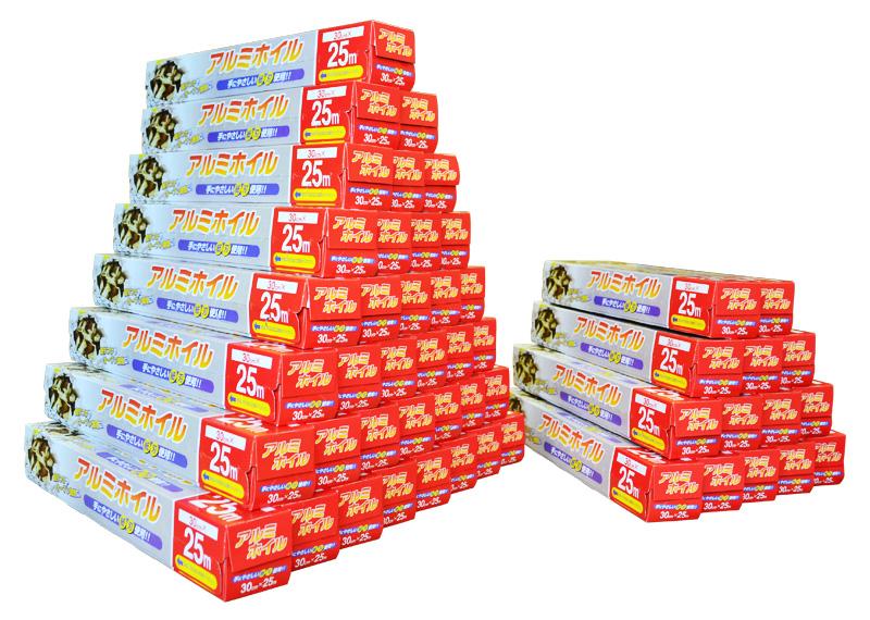 【ケース販売】50個入 アルミホイル 30cm×25m 一個あたり245円!《送料無料》-北海道・沖縄・一部離島は¥650-