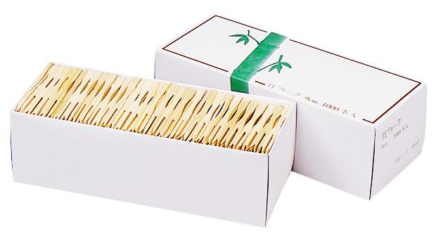 送料0円 超激安 商売繁盛竹フォーク 9cm 1000本箱入