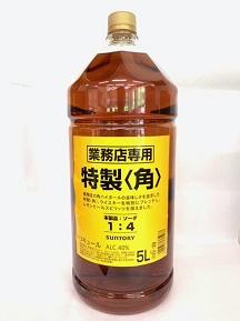 NEWボトル お得な大容量ボトル 人気海外一番 全店販売中 サントリー 角瓶 業務用 5L ウイスキー 大容量 ジャパニーズ 5000ml 40度 ペットボトル