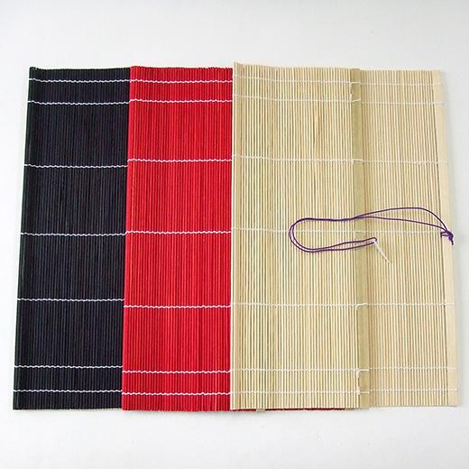 手織筆巻 33×35cm 黒・赤・白 『竹製 書道用品 習字 書道』メール便対応