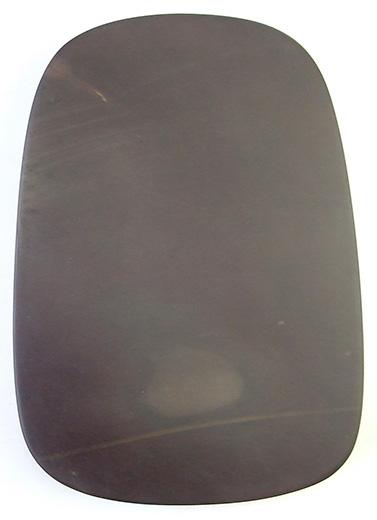 端渓 坑仔岩 蛋型板硯 8吋