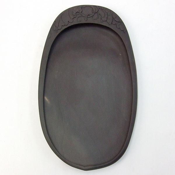 端渓 坑仔岩 果樹硯 6.9吋 『硯石 端渓硯 本石 木箱 書道用品』