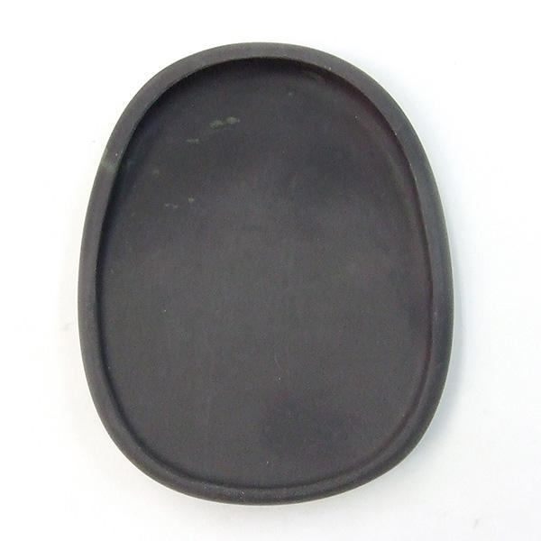 端渓 新坑仔岩 蛋型淌池硯 4吋 『硯石 写経 本石 木箱 書道用品』