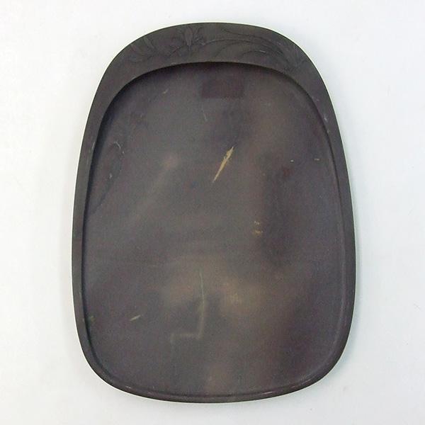 端渓 坑仔岩 薄型彫花硯 6.6吋 『硯石 端渓硯 本石 木箱 書道用品』送料無料