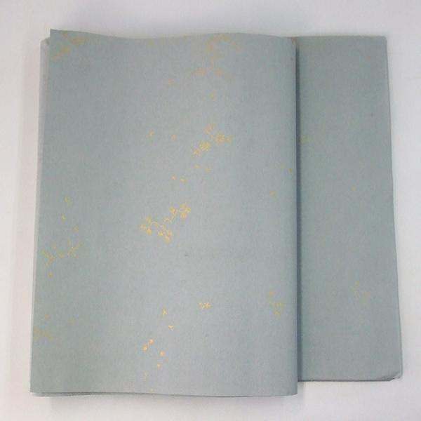 半切 全体柄 染 No.627 グレー 50枚 仮名用 加工紙 『条幅 書道用紙 書道用品 画仙紙』