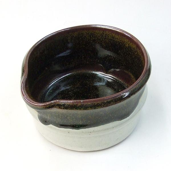 601096 (小) 山水円明硯 陶器墨池 620228