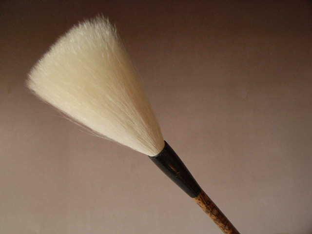 【受注生産】【豊橋筆3】 太筆 羊毛筆 細微光鋒 13mm×85mm 『純羊毛 書道用品 書道筆 毛筆』 送料無料