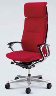 高級椅子 デューク エクストラハイバック ブラックフレーム 織布製 オカムラ CZ57ZR-FJT