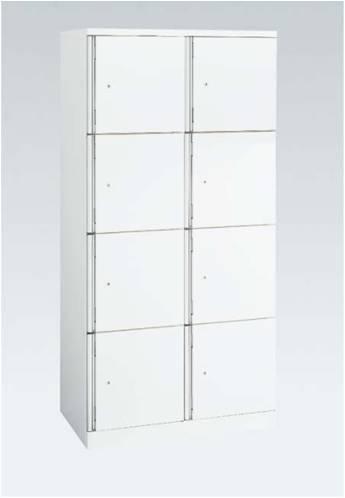 4508SW 白い8人用ロッカー(2列4段) オカムラ