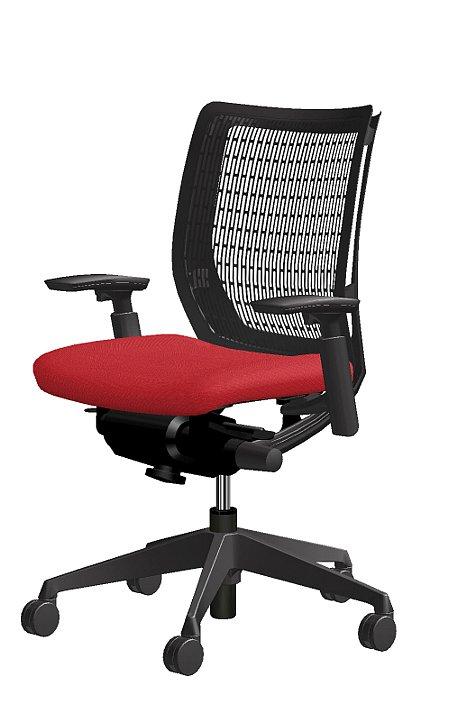 お気に入りの椅子 ヴィスコンテ オカムラ ローバック 可動肘 ブラックフレ-ム  CW31ZA